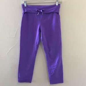 Lululemon convertible waist cropped leggings